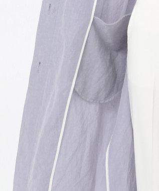 ICB L Bio Linen スプリング コート ラベンダーブルー系