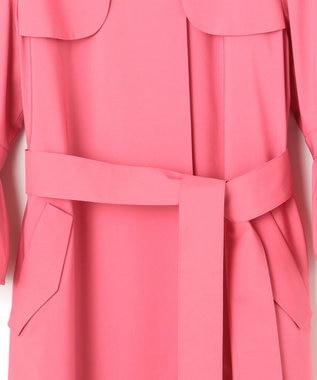 23区 【23区 lab.】TCストレッチ袖ギャザー トレンチコート(番号S65) ピンク系