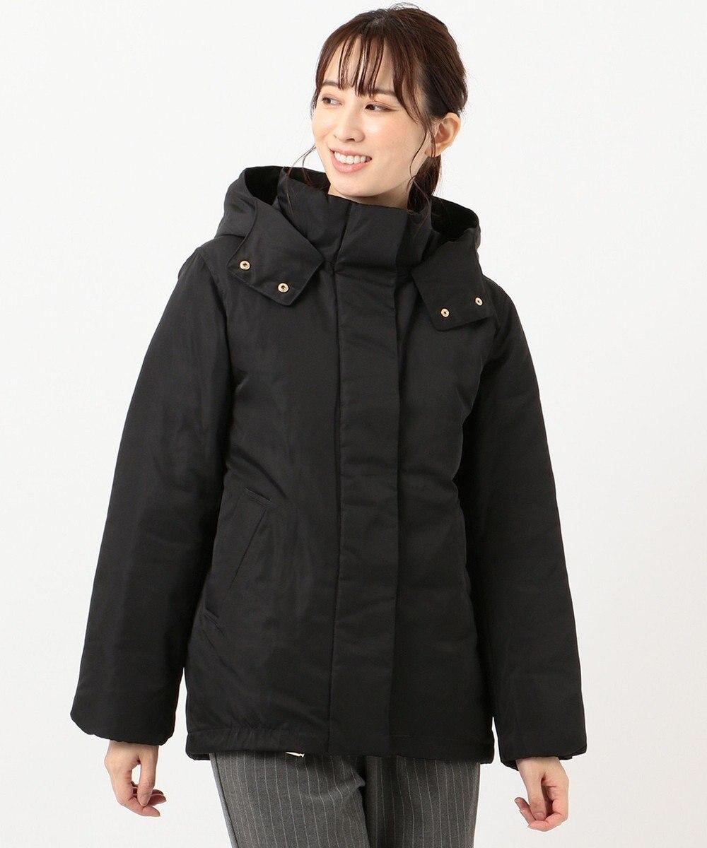 any FAM L 【洗える】ソロナファイバー 中綿ジャケット ブラック系