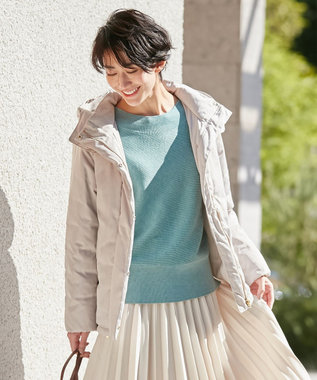 any FAM L 【洗える】ソロナファイバー 中綿ジャケット アイボリー系