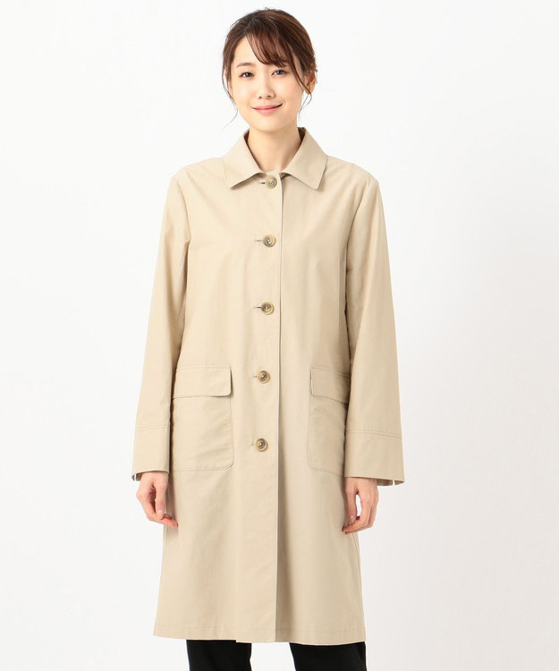 J.PRESS LADIES L 【撥水加工】洗えるARS VINAタッサー レインコート