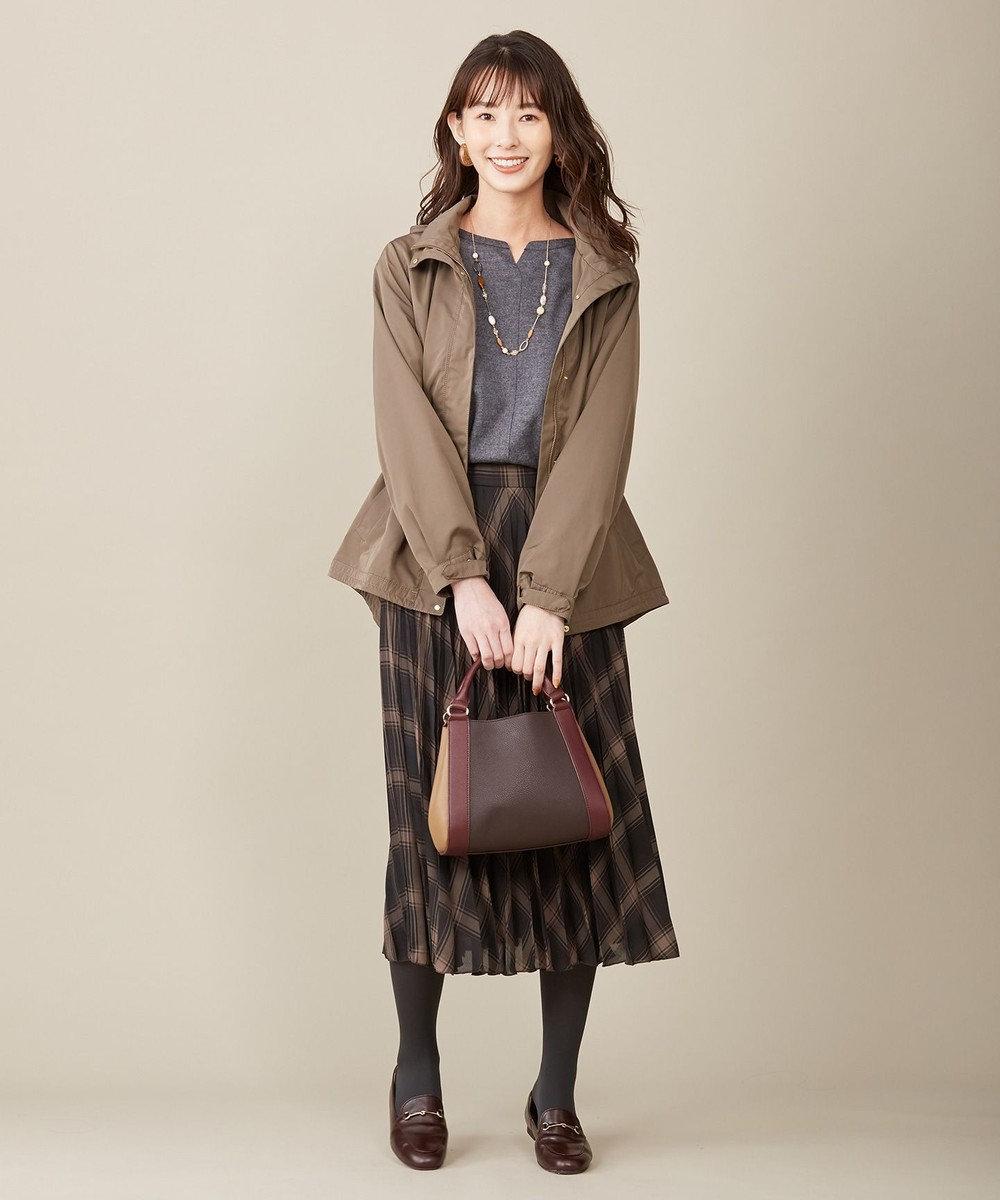 J.PRESS LADIES 【撥水加工】シェイプメモリータフタII ブルゾン カーキ系