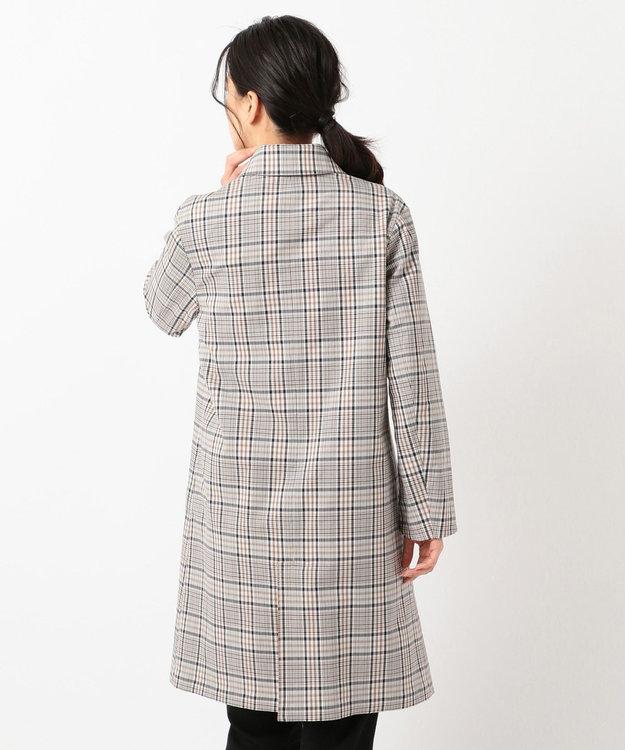 J.PRESS LADIES S 【リバーシブル】ドライチェック ステンカラーコート