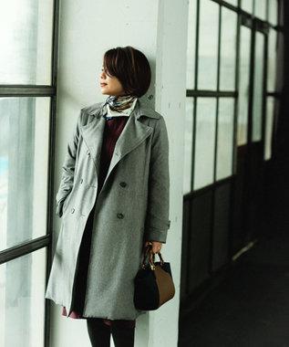 J.PRESS LADIES S 【mi-mollet掲載】ADSトレンチ風 ダウンコート グレー系