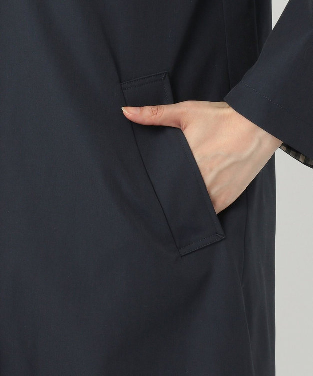 J.PRESS LADIES 【撥水加工】ヴェルダムシャンブレーリバー ステンカラーコート