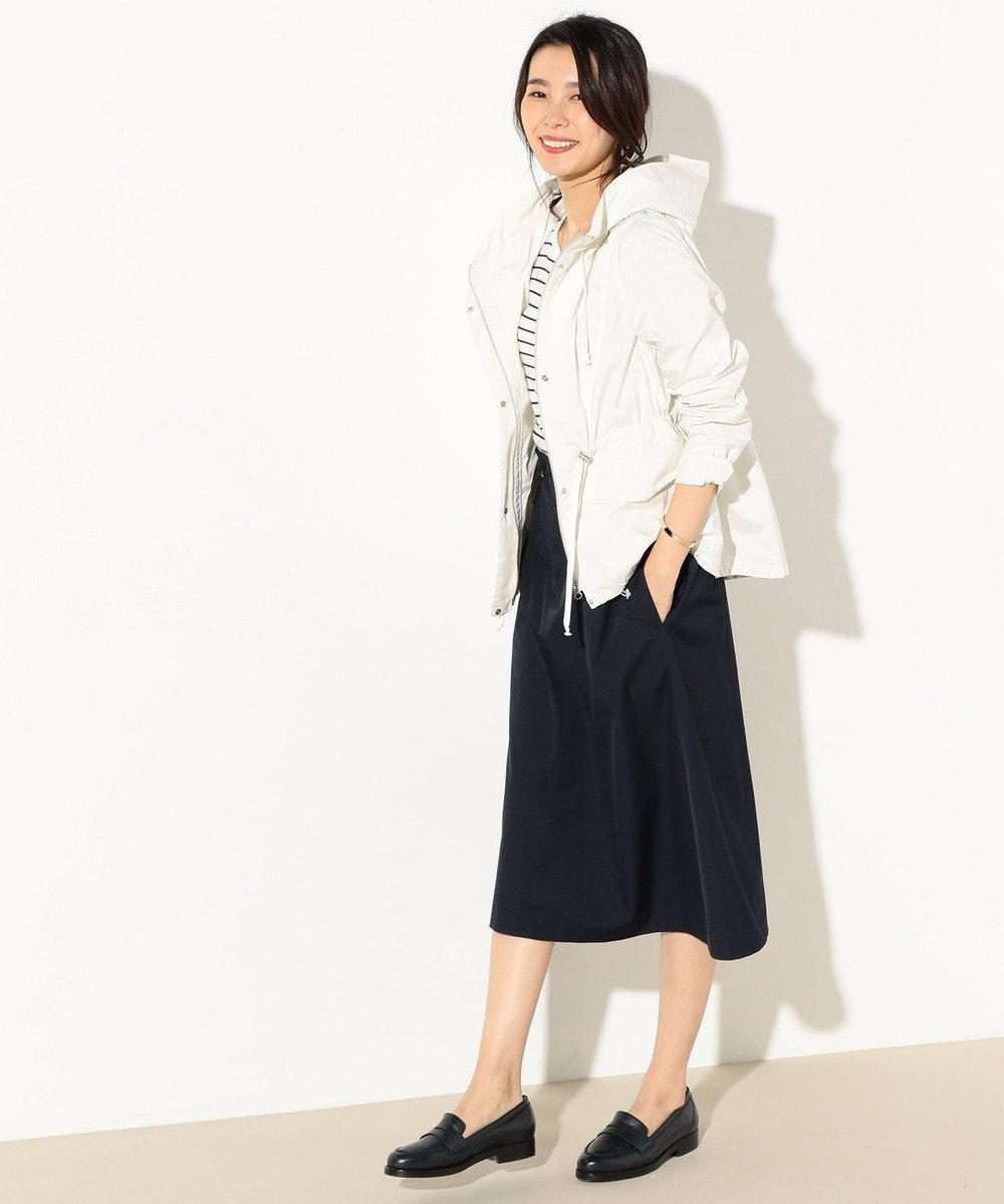 J.PRESS LADIES L 【洗える】NEW GU フード付きブルゾン アイボリー系