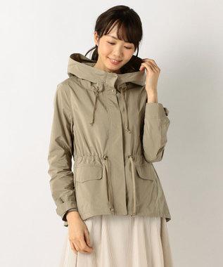 J.PRESS LADIES S 【洗える】NEW GU フード付きブルゾン ベージュ系