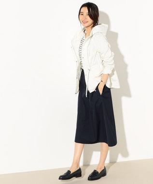 J.PRESS LADIES S 【洗える】NEW GU フード付きブルゾン アイボリー系