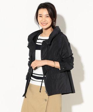 J.PRESS LADIES S 【洗える】NEW GU フード付きブルゾン カーキ系