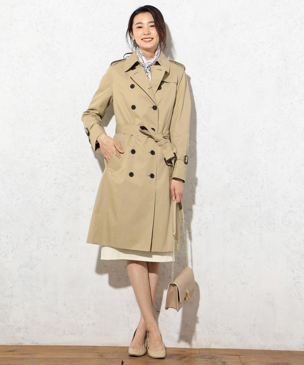 J.PRESS LADIES L 【定番人気】ギャバベンタイル トレンチコート キャメル系