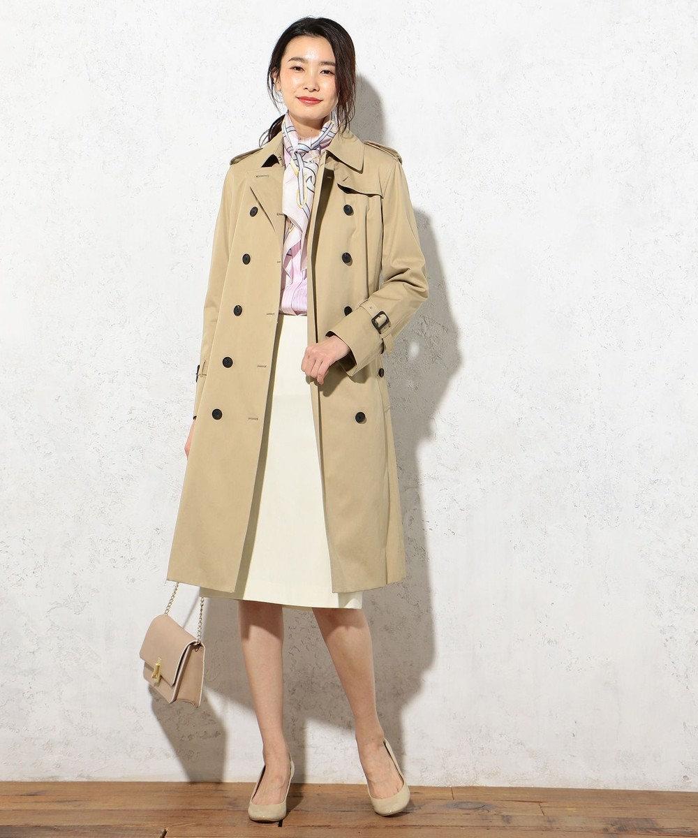 J.PRESS LADIES 【定番人気】ギャバベンタイル トレンチコート キャメル系