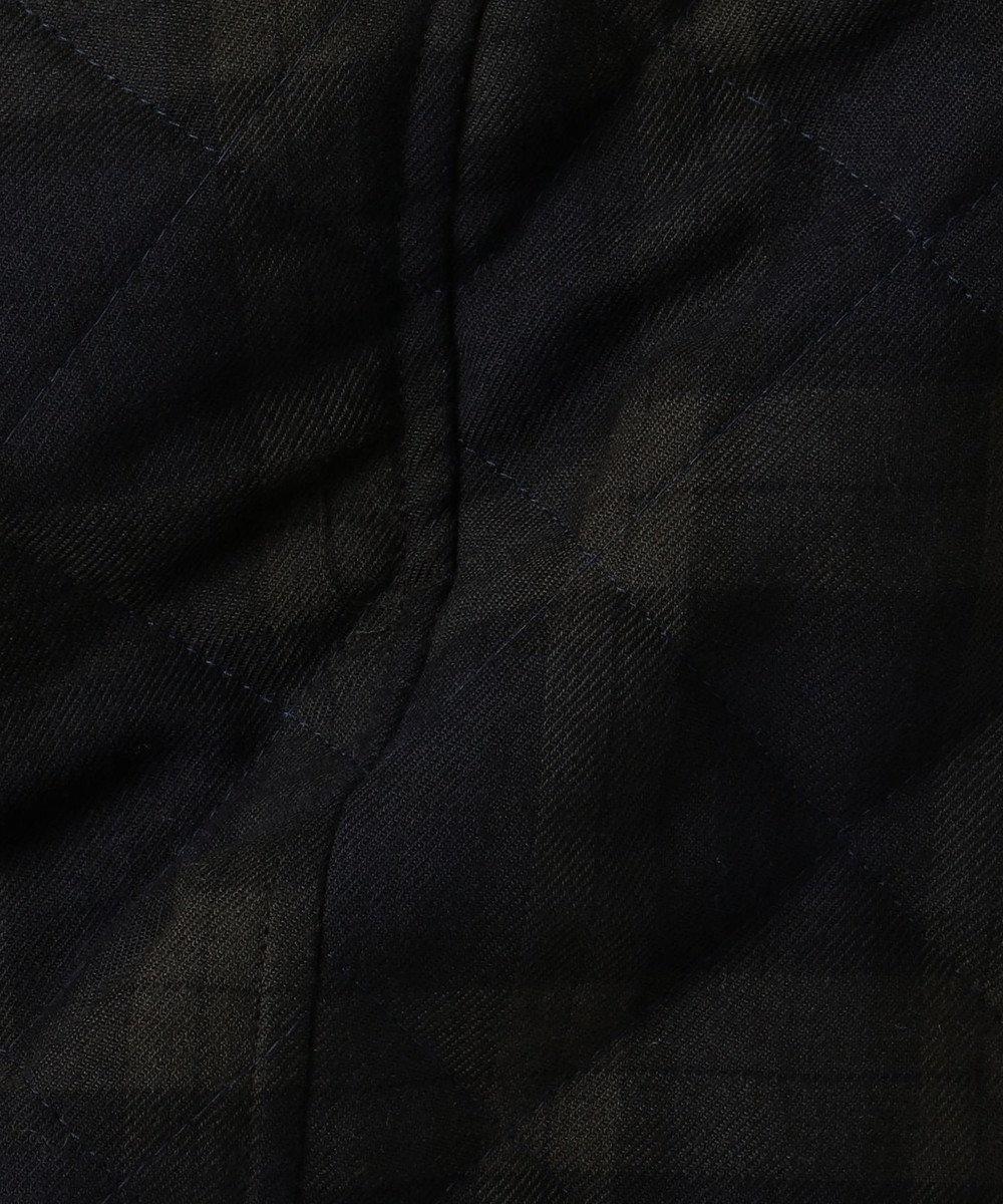 J.PRESS LADIES L 【フードが取り外せる】キルテッドチェック ショート丈コート ネイビー系3