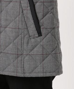 J.PRESS LADIES L 【フードが取り外せる】キルテッドチェック ショート丈コート グレー系7