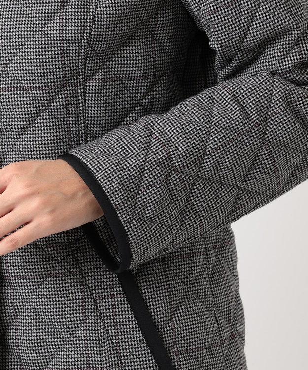J.PRESS LADIES L 【フードが取り外せる】キルテッドチェック ショート丈コート