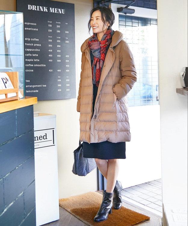 J.PRESS LADIES L 【WEB限定色あり】ブラッシュドマルチポリ ロング ダウンコート