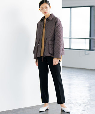JOSEPH 【JOSEPH STUDIO・洗える】ライトキルティング コート ダークブラウン系