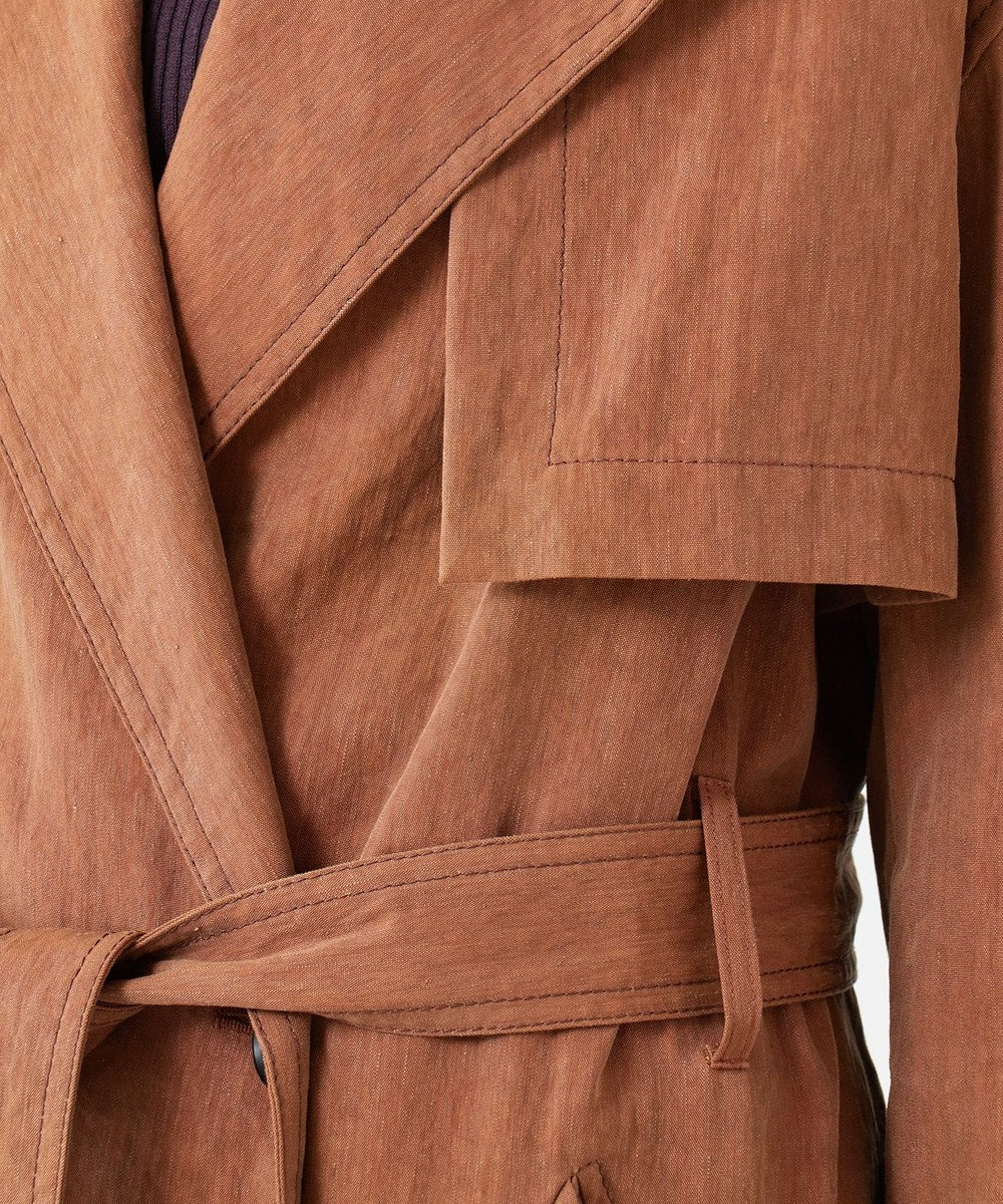 JOSEPH LEWS / LINEN NYLON CANVAS コート ブラウン系