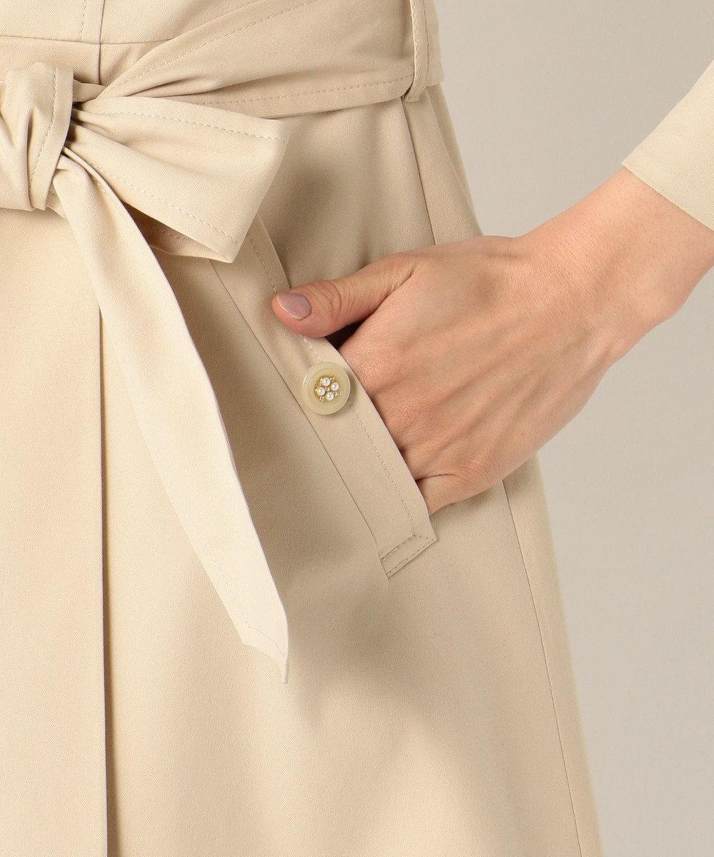 Feroux スプリングフラワートレンチ コート ベージュ系