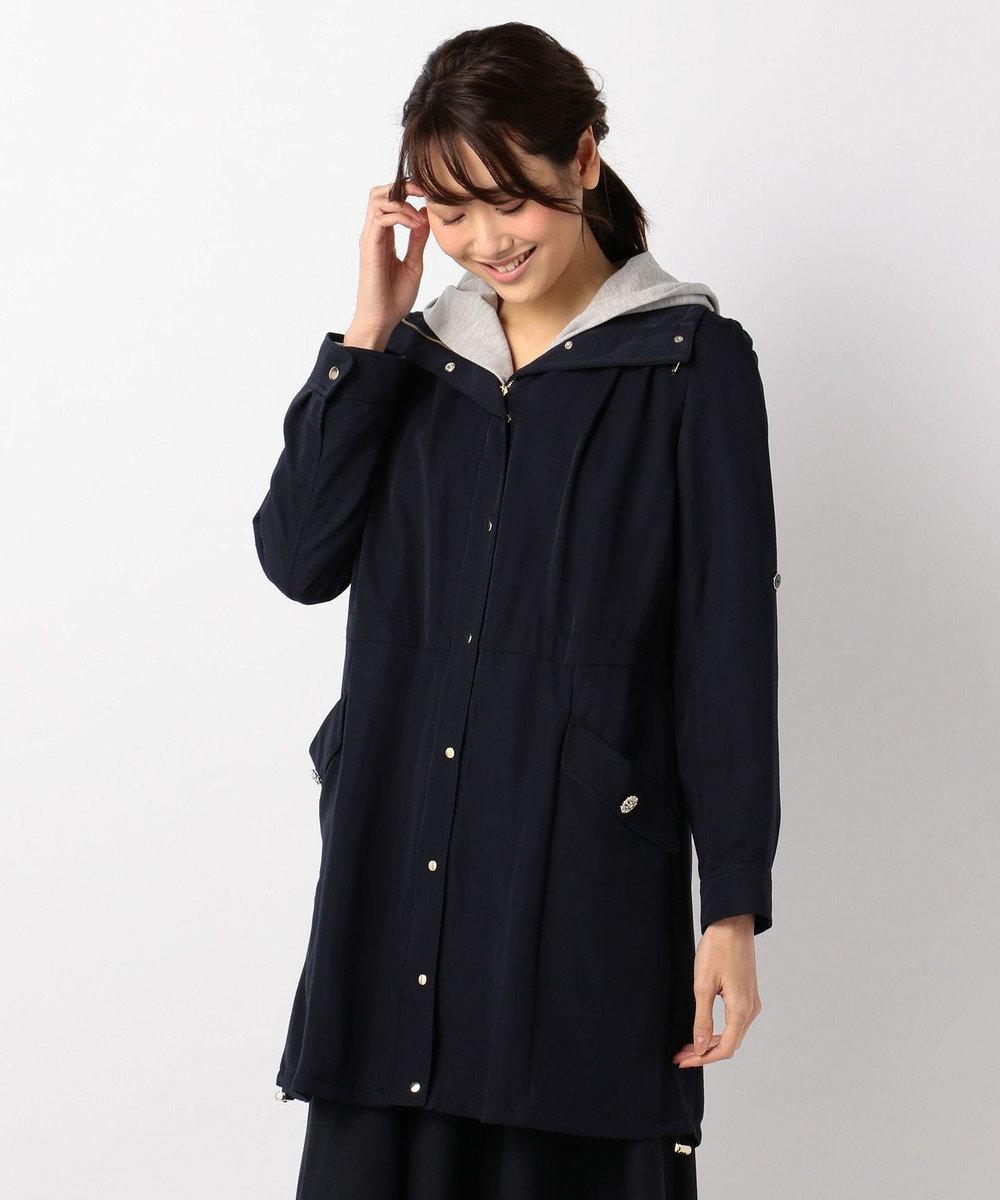 Feroux 【2SET】パーカーコンビライトモッズ コート ネイビー系