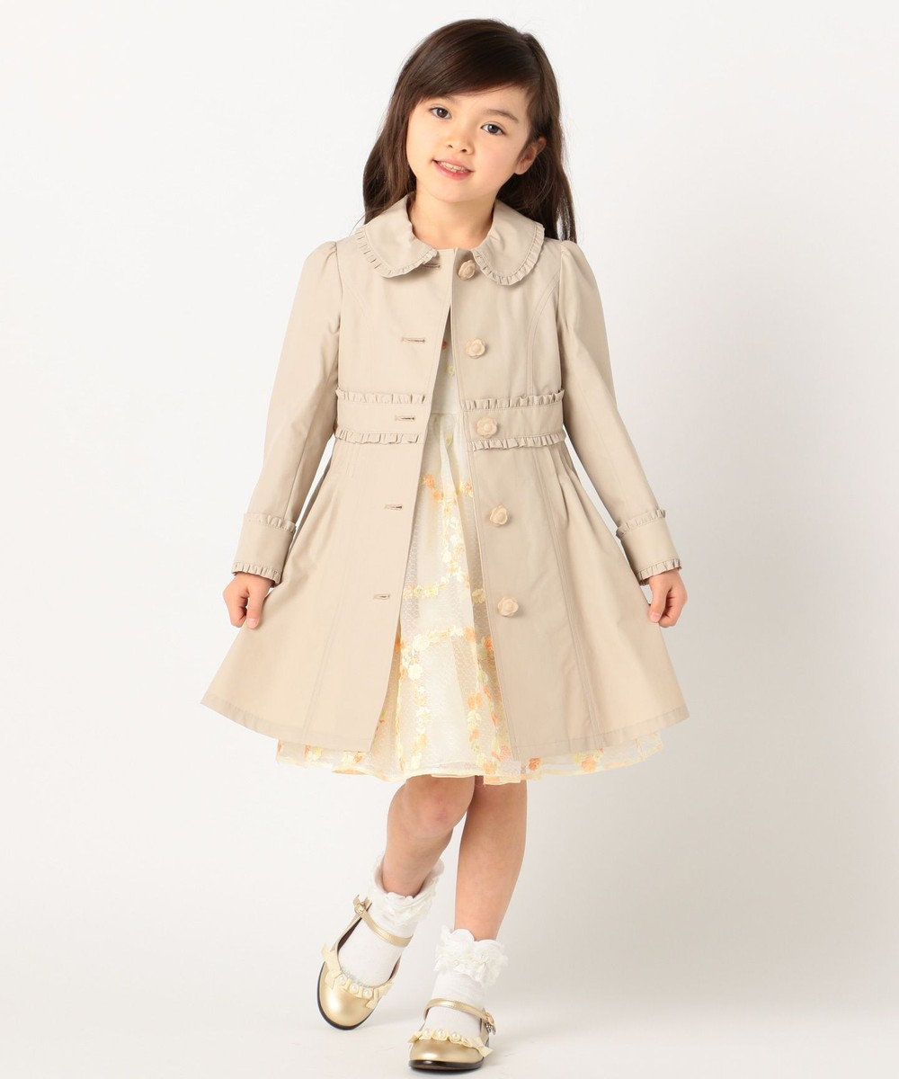 TOCCA BAMBINI 【KIDS】フリルトレンチ コート ベージュ系