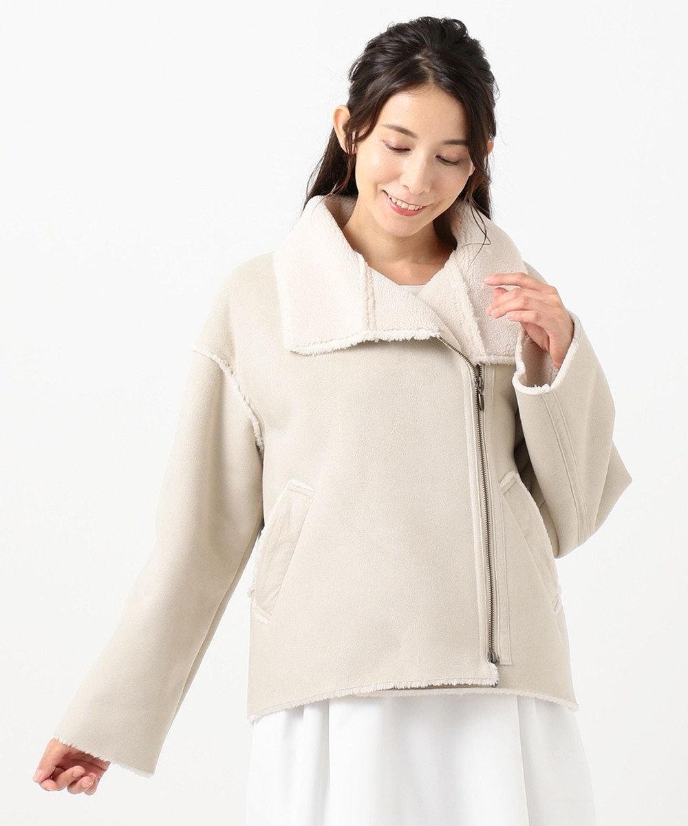 TOCCA 【TOCCA LAVENDER】Eco Mouton Jacket ジャケット アイボリー系