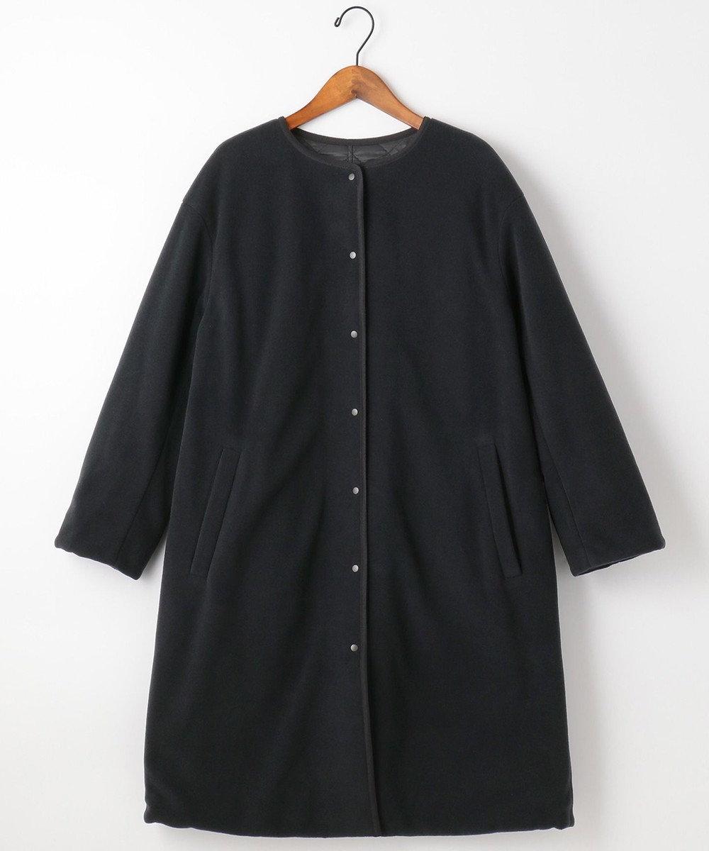 自由区 L 【UNFILO】マシュマロフリース リバーシブル コート (検索番号:UN69) ブラック系