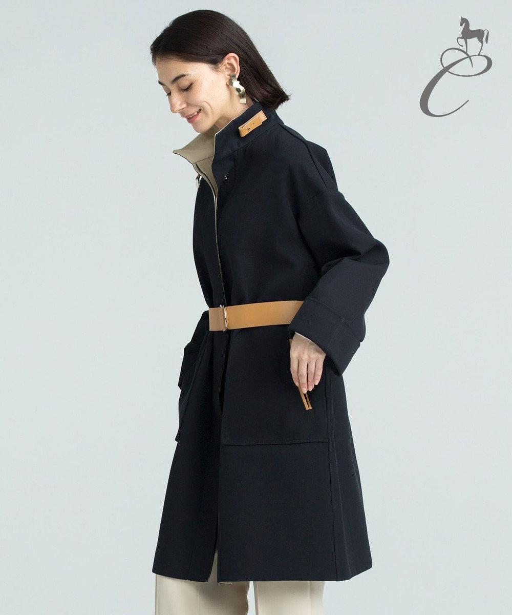自由区 【Class Lounge】DOUBLE SPLITTABLE コート ブラック系