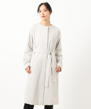 23区 L 【撥水加工】グログランパフィー 中綿コート ベージュ系