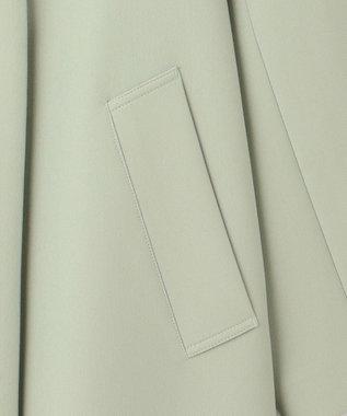 23区 グロッシーダブルクロス Vカラーコート ライトグリーン系