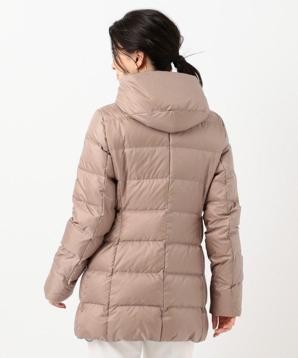 23区 【洗える】シレータフタ フーデッドダウン コート ベージュ系