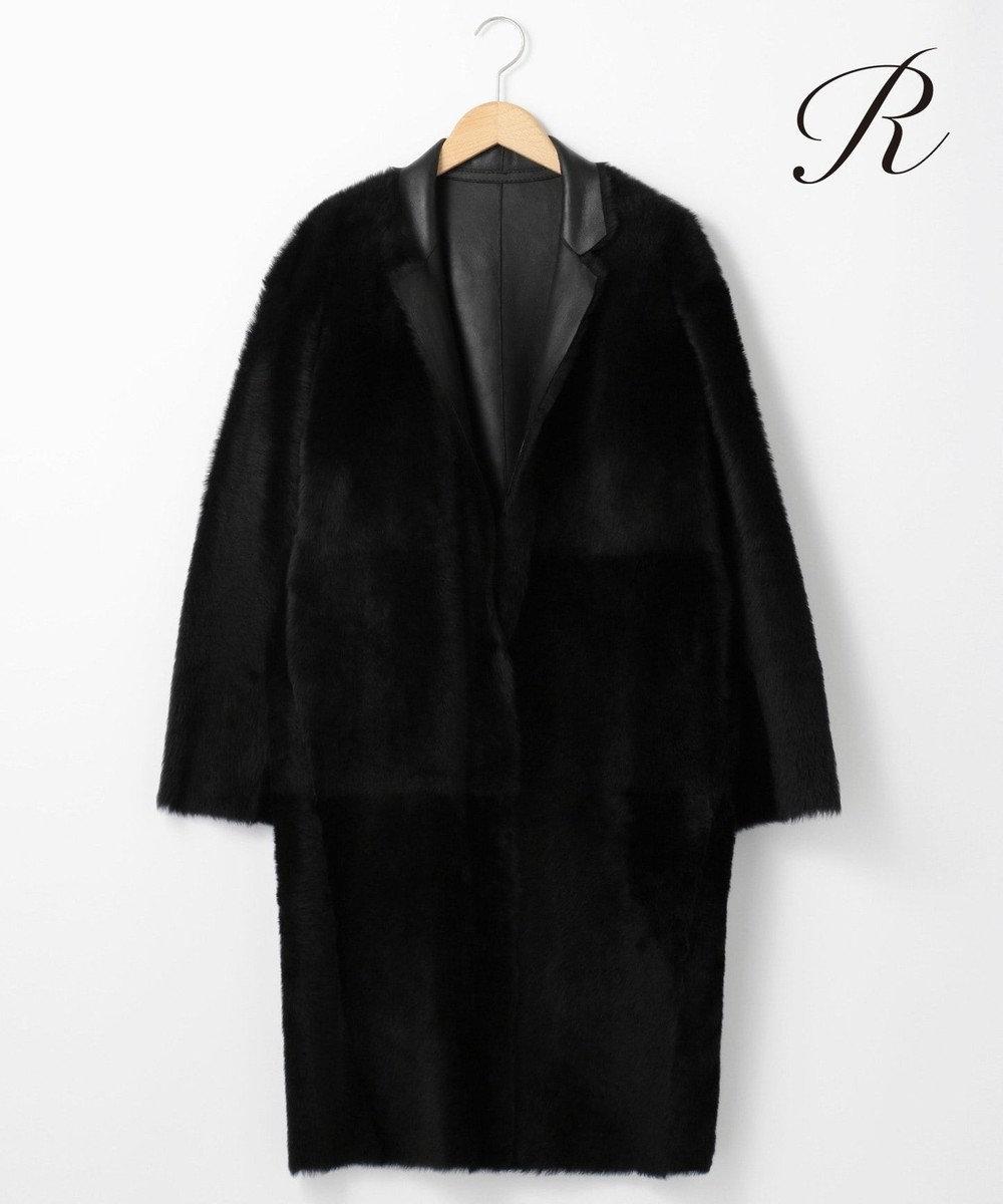 23区 L 【R(アール)】LAMB MOUTON コート(検索番号R23) ブラック系