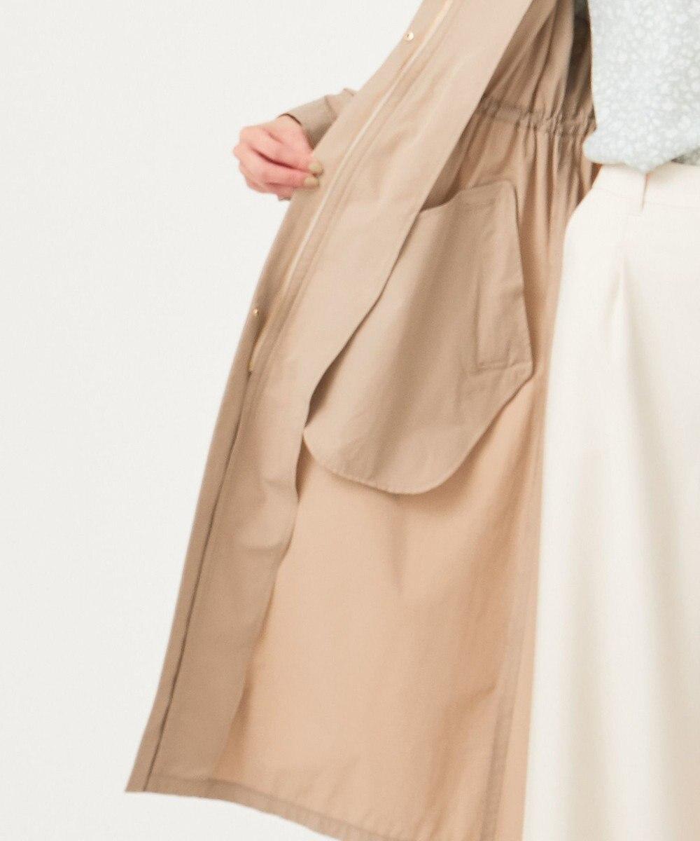 any SiS 【洗える】ロングギャザーライト モッズコート ベージュ