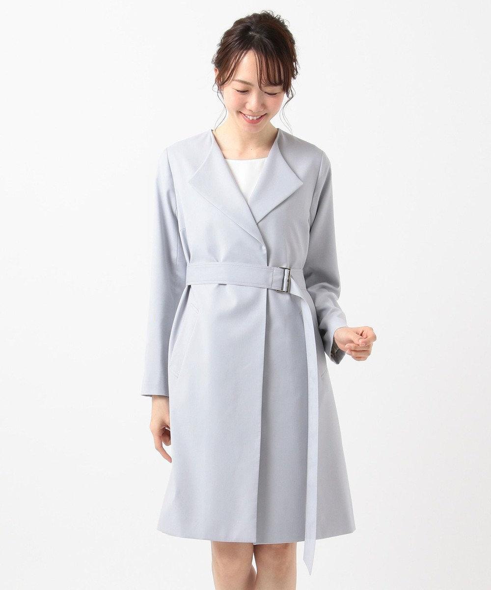 any SiS ノーブルライト テロンチ コート ブルーグレー