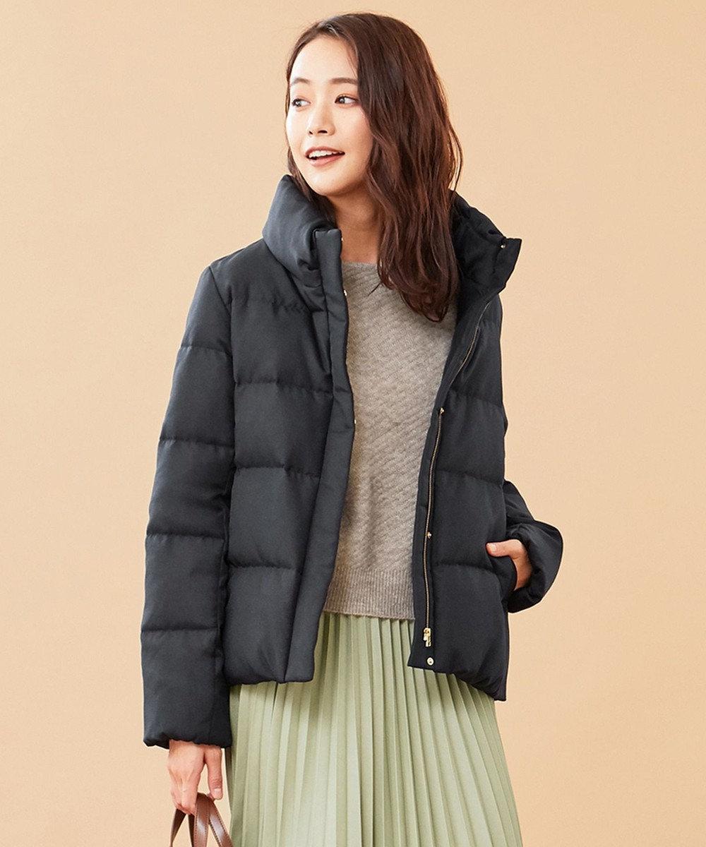 any SiS L 【洗える】スタンドカラーショート ダウン ネイビー