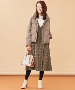 any SiS L 【洗える】スタンドカラーショート ダウン モカ