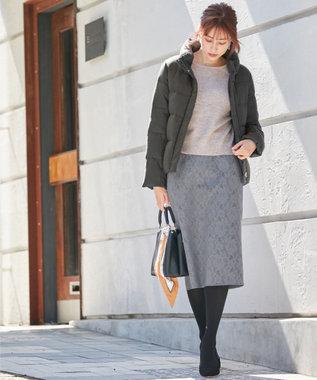 any SiS L 【洗える】スタンドカラーショート ダウン チャコールグレー