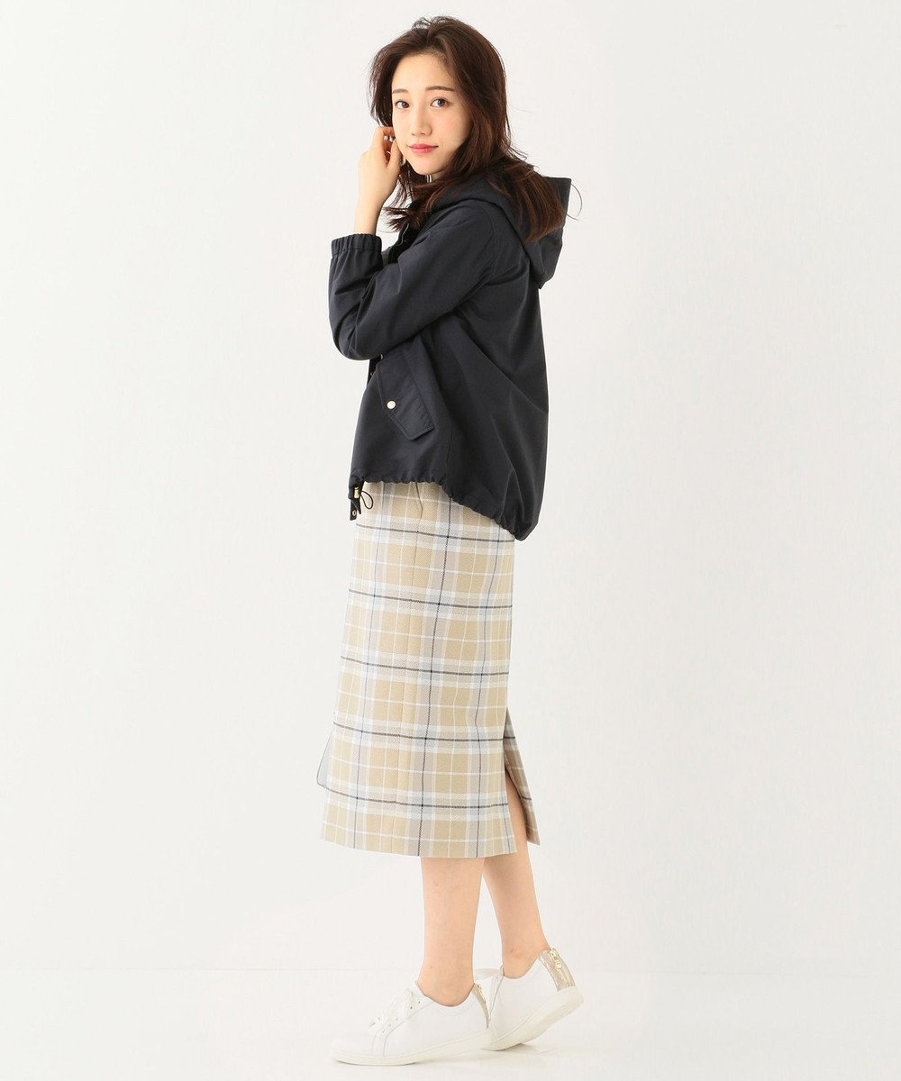 any SiS S 【洗える】ショート モッズコート パーカー ネイビー系