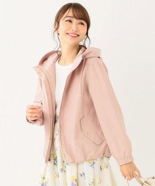 any SiS S 【洗える】ショート モッズコート パーカー ピンク系