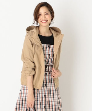 any SiS S 【洗える】ショート モッズコート パーカー ベージュ系
