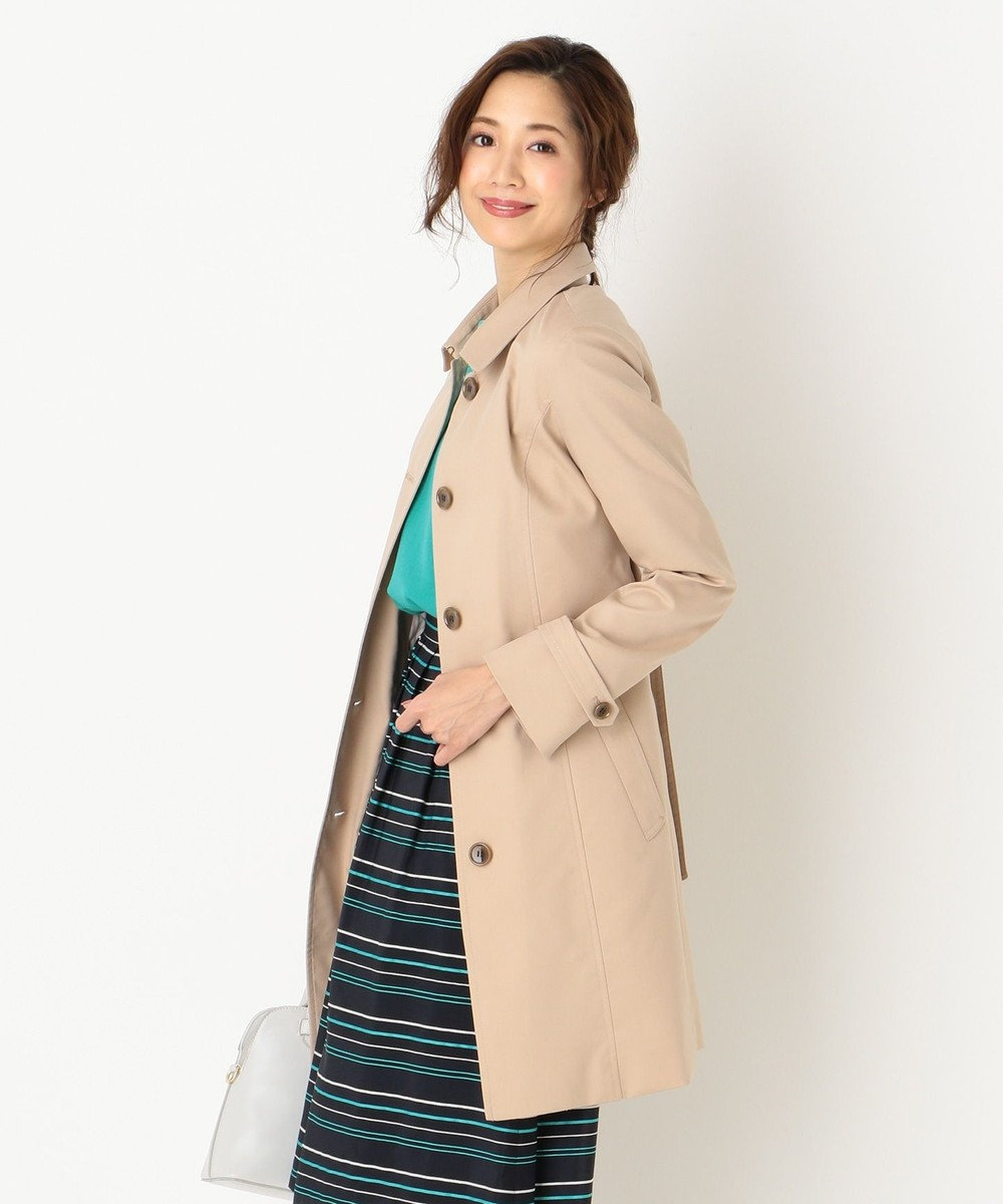 any SiS 【蓄熱ライナー付】スプリングライトツイルステンカラー コート ブラウン系