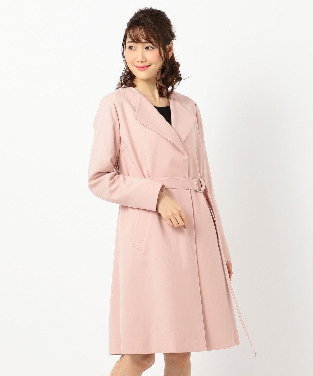 any SiS L ノーブルライト トレンチコート ピンク系