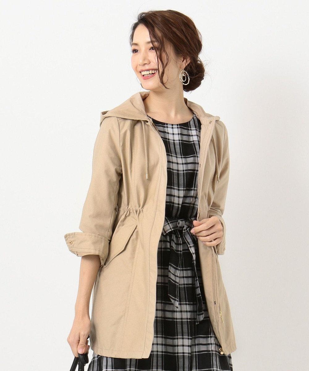 any SiS S 【洗える・2WAY】ライト モッズ コート ベージュ系