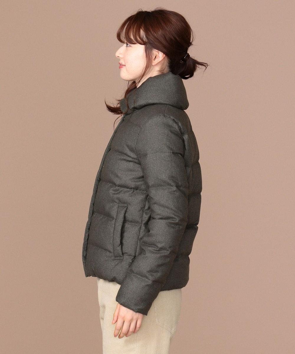 any SiS 【洗える】ショールスタンドレディ ダウン チャコールグレー