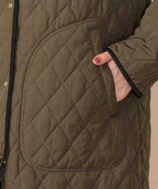any SiS S 【2WAY】キルティングライナー付 モッズコート カーキ系