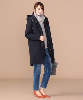 any SiS S 【2WAY】キルティングライナー付 モッズコート ネイビー系