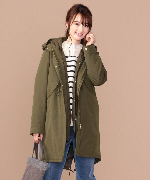 any SiS S 【2WAY】キルティングライナー付 モッズコート