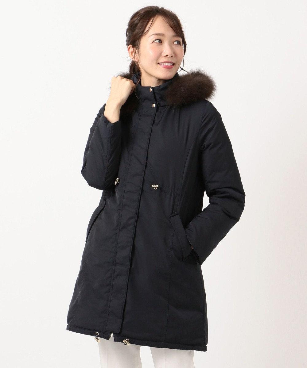 any SiS 【4WAY】リバーシブル ロングダウン ネイビー系