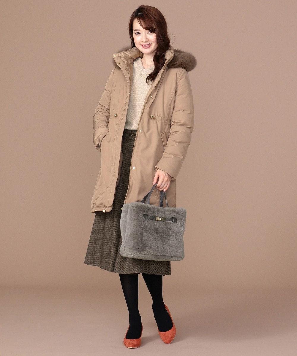 any SiS 【4WAY】リバーシブル ロングダウン ベージュ系