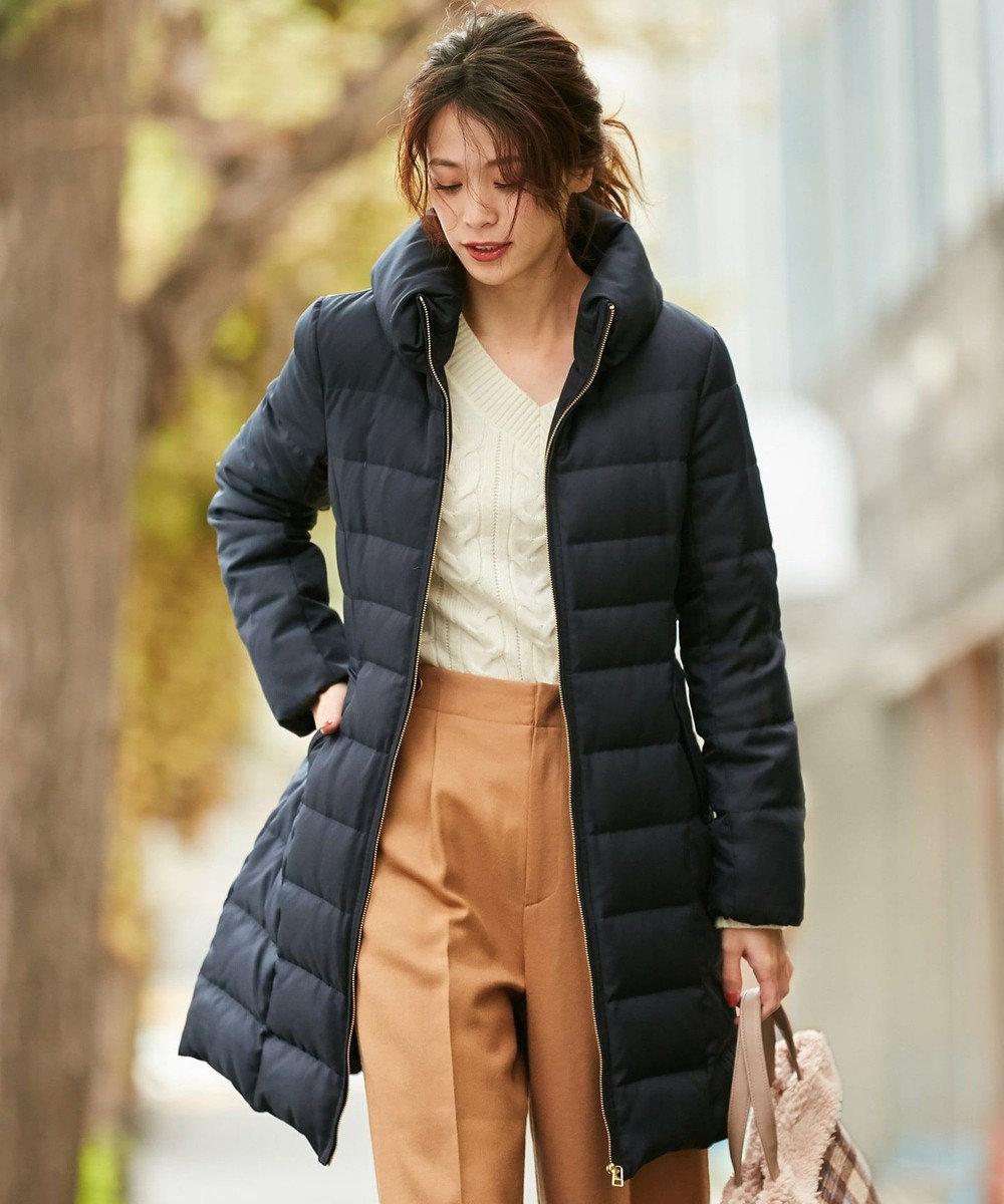 any SiS 【洗える】レディスタンド ロングダウン ネイビー系