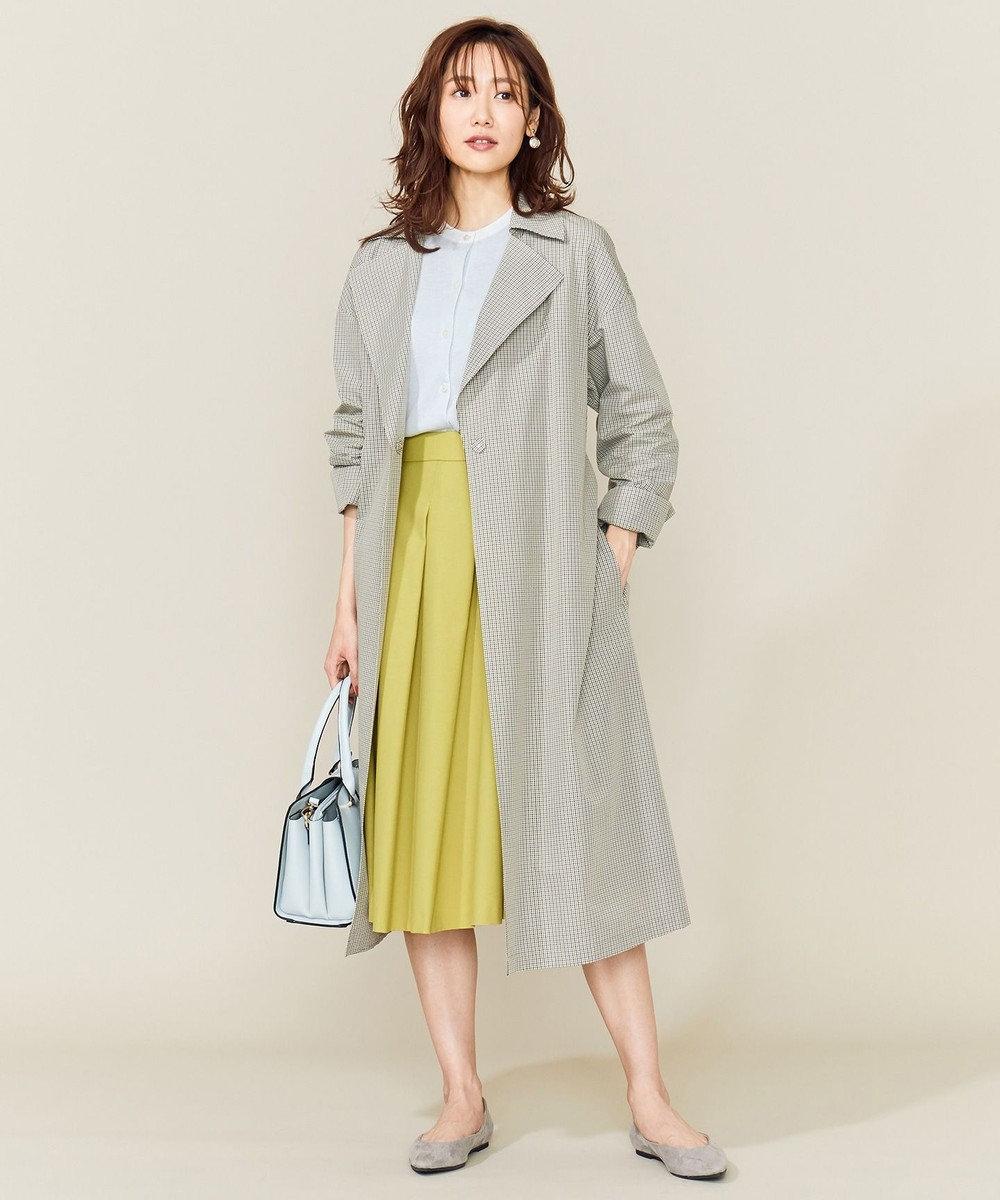 組曲 【VERY4月号掲載】C/Nyチェックライトコート カーキ系3